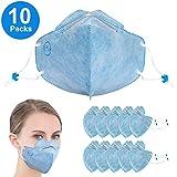 使い捨て マスク 立体 N95 ますく 三層構造 個包装10枚入れ 大人用 ブルー