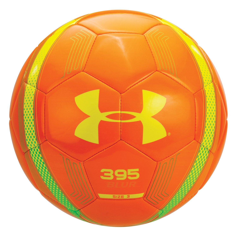 amazon com under armour 395 blur soccer ball size 4 vivid orange