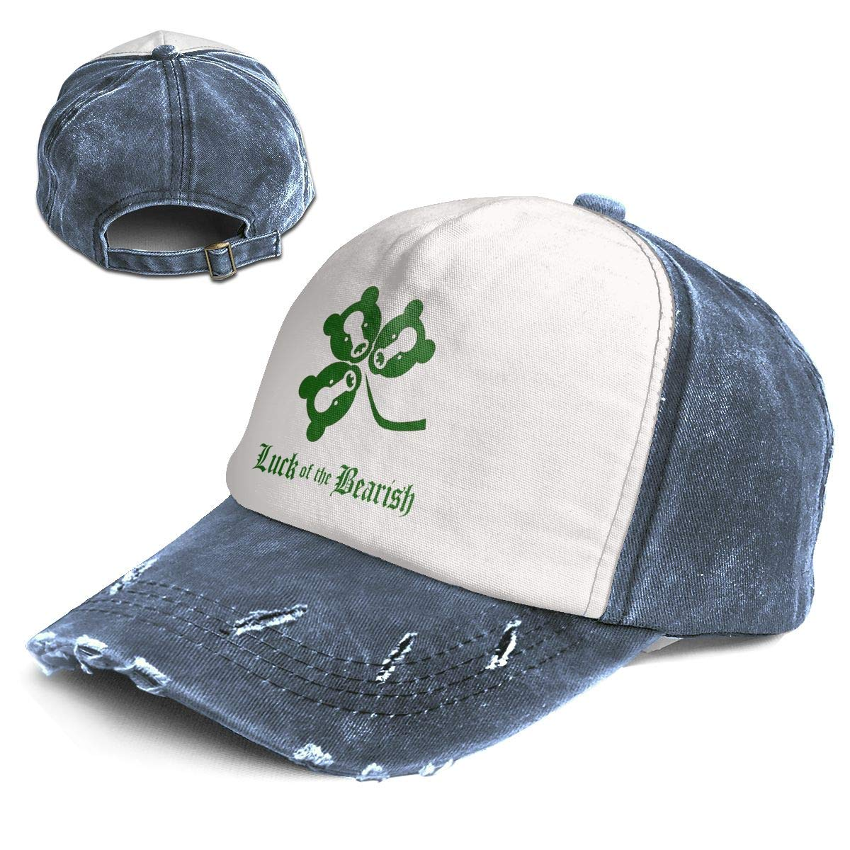 Fashion Vintage Hat Luck of The Bearish Adjustable Dad Hat Baseball Cowboy Cap