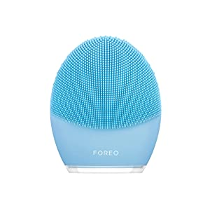 FOREO LUNA 3 App-controlled Smart Portable Facial Cleansing and Firming Massage Brush made with Ultra Hygienic Soft Silicone for Every Skin Type USB Rechargeable
