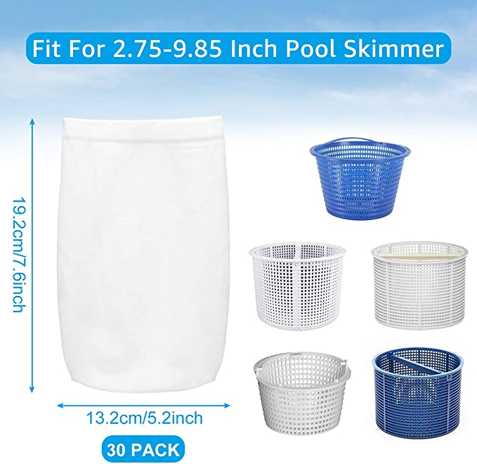 5X Pool Skimmer Socks Savers For Baskets and Skimmers Fine F2J8 2019 Mesh G5G6