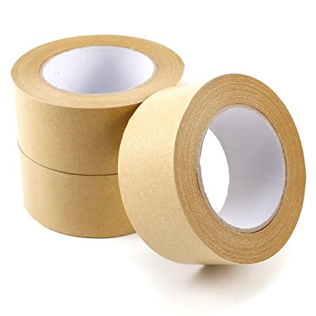 50mm Brown Adhesive Backing Tape Picture Framing 50m 3 Rolls: Amazon ...