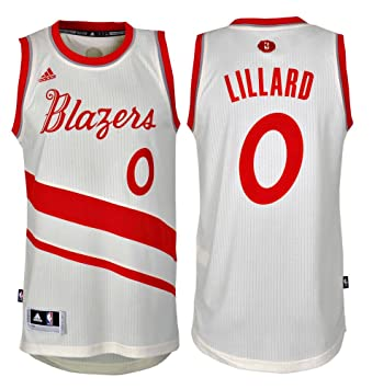 77f311207 Adidas Portland Trail Blazers Damian Lillard 0 XMAS Swingman NBA Jersey Vest  (S-46