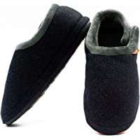 ARCHLINE Closed Charcoal Marl Comfortable Orthotic Slippers