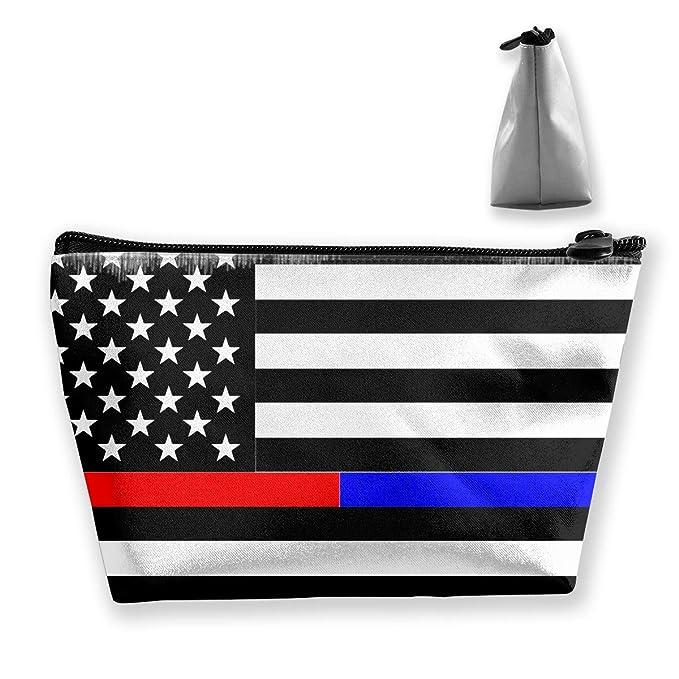 53bd25234642 Amazon.com: Jonathan Sidney Thin Line Police Red Blue Makeup Bag ...