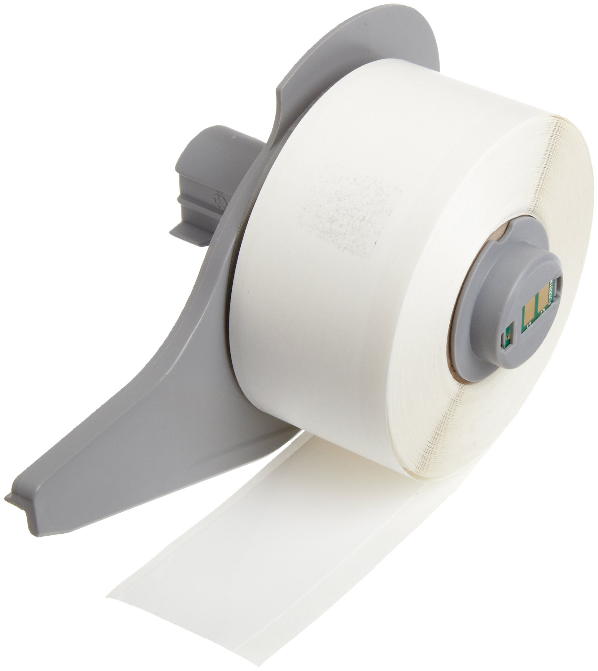 Brady M71C-1000-422 1'' Width x 50' Height White Color B-422 Permanent Polyester Labels With Gloss Finish For BMP71 Label Printer