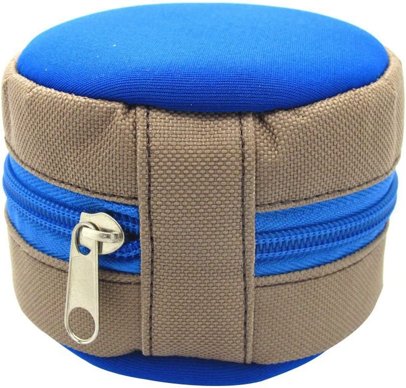 Outdoor Portable Fly Fishing Reel Zipper Storage Pouch Protective Case Bag Uticon Fishing Reel Pouch