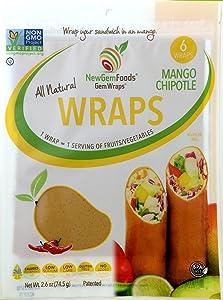 GemWraps Mango Chipotle Sandwich Wrap 6 Count