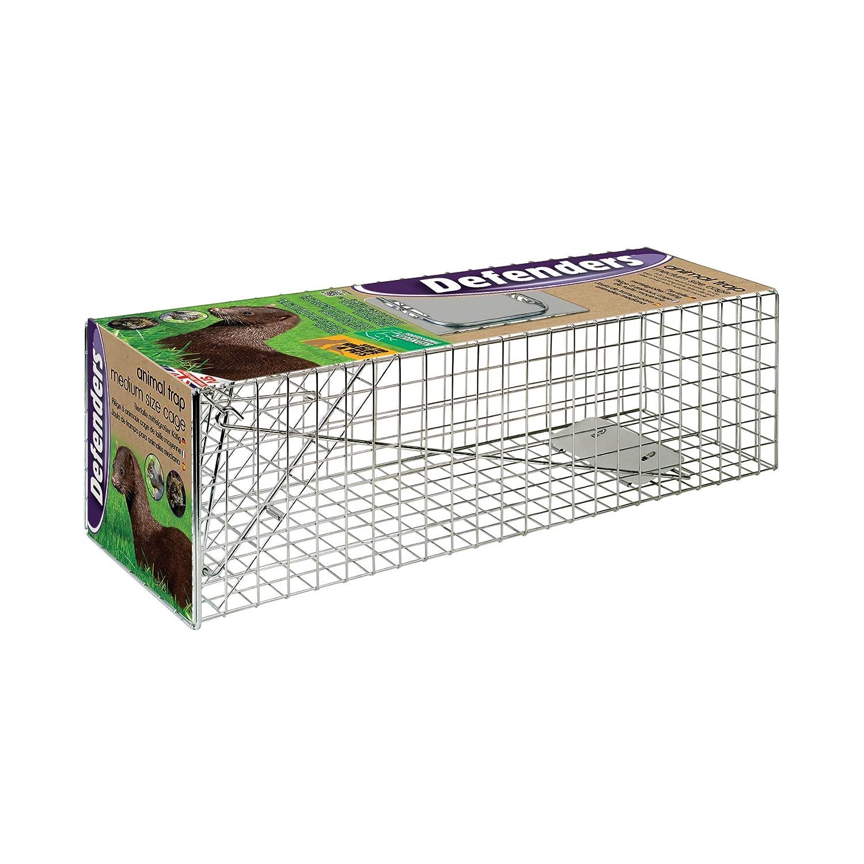 Defenders - Animal Trap Cage (trampa humana fácil de colocar para visón y fauna silvestre de tamaño similar, apta para uso en interiores y exteriores) ...