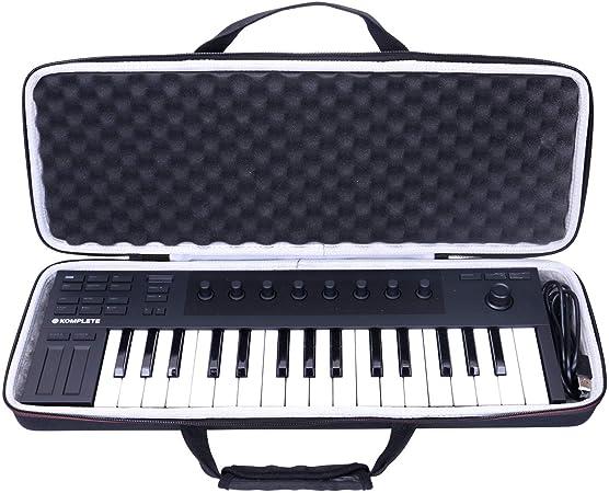 LTGEM Funda para Native Instruments Komplete Kontrol M32 teclado controlador, bolsa de transporte de viaje EVA dura