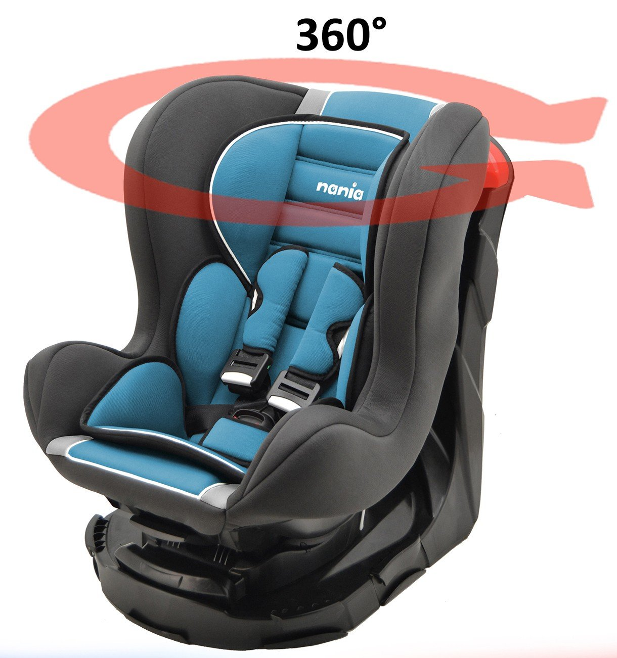 Kinderautositz REVO 360° drehbar und neigbar - gruppen 0+/1-4 farben - Carmin Mycarsit 272129