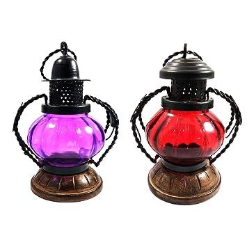 India Meets India Juego de 2 lámparas Decorativas para ...