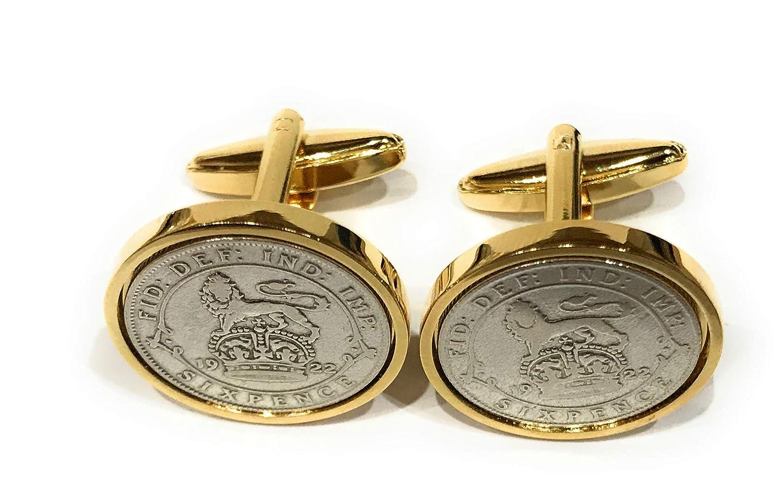 Premium 1924 Lucky Sixpence Cufflinks for a 94th Birthday Cufflinks