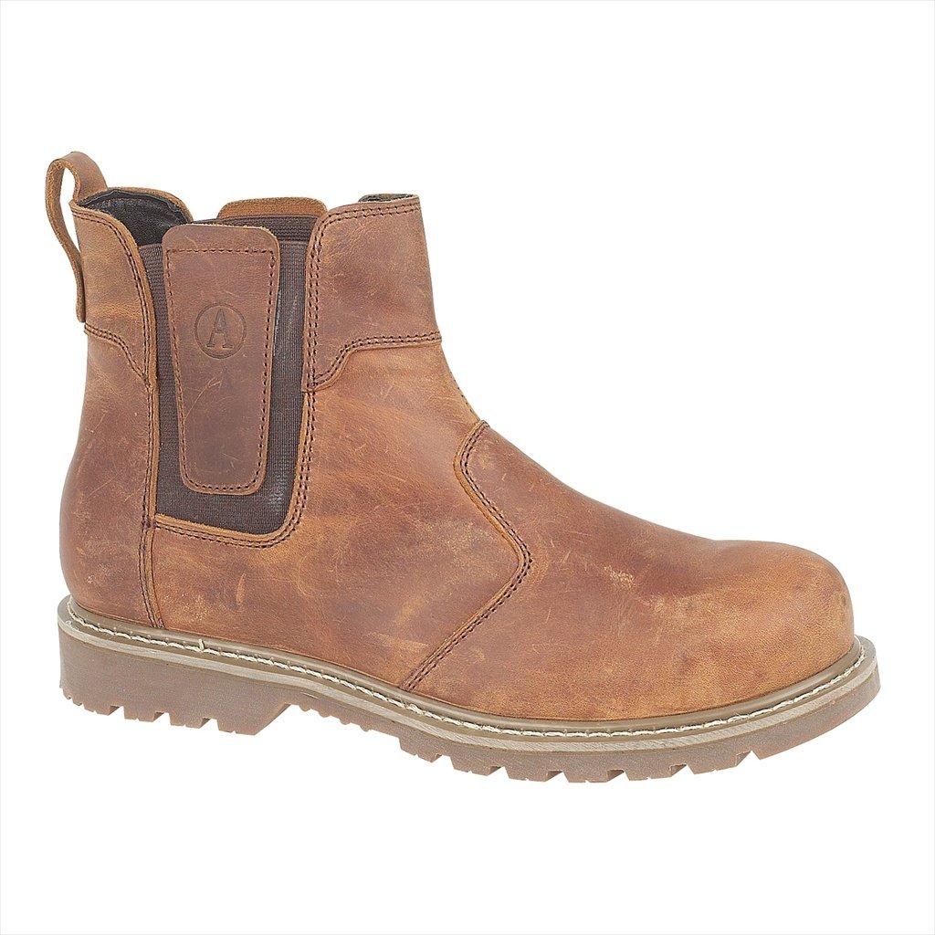 Amblers Mens & Dealer Womens FS165 Leather Slip Resistant Safety Dealer & Boots braun 6441fc