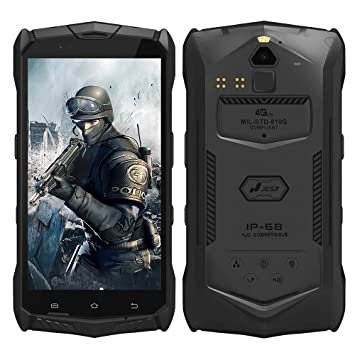 Jesy J9s 4G LTE Teléfono Móvil Android 7.0 Octa-Core 5.5 Pulgadas Outdoor Smartphone NFC IP68 Impermeable 16MP+8MP Cámara Negro: Amazon.es: Electrónica