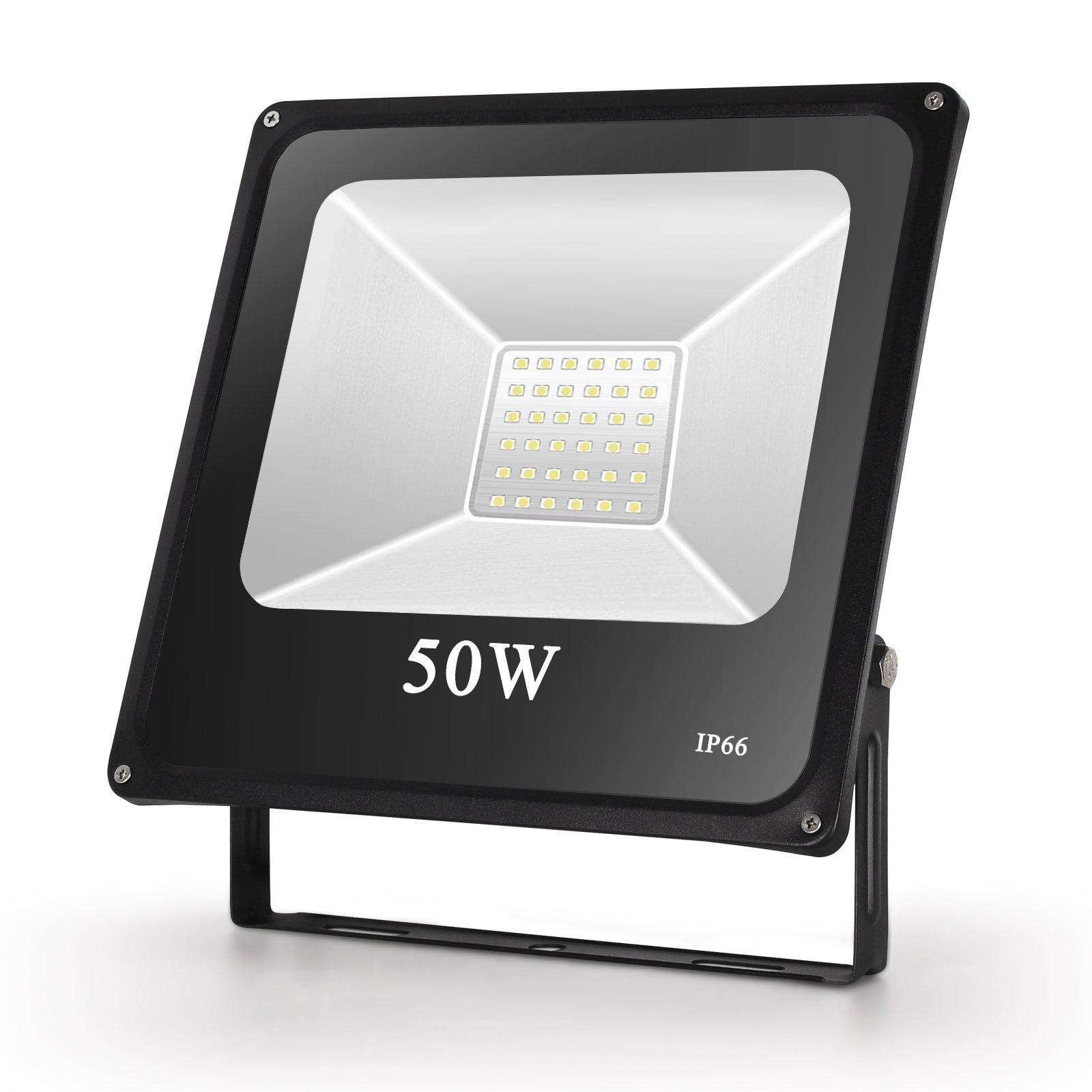 Toplanet 50w Floodlight Led Foco Proyector Led para Exterior Iluminación Decoración 6500k IP66 Negro product image
