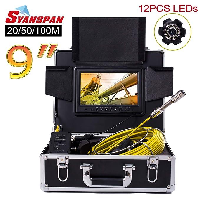 Amazon.com: SYANSPAN - Cámara de inspección de tuberías ...