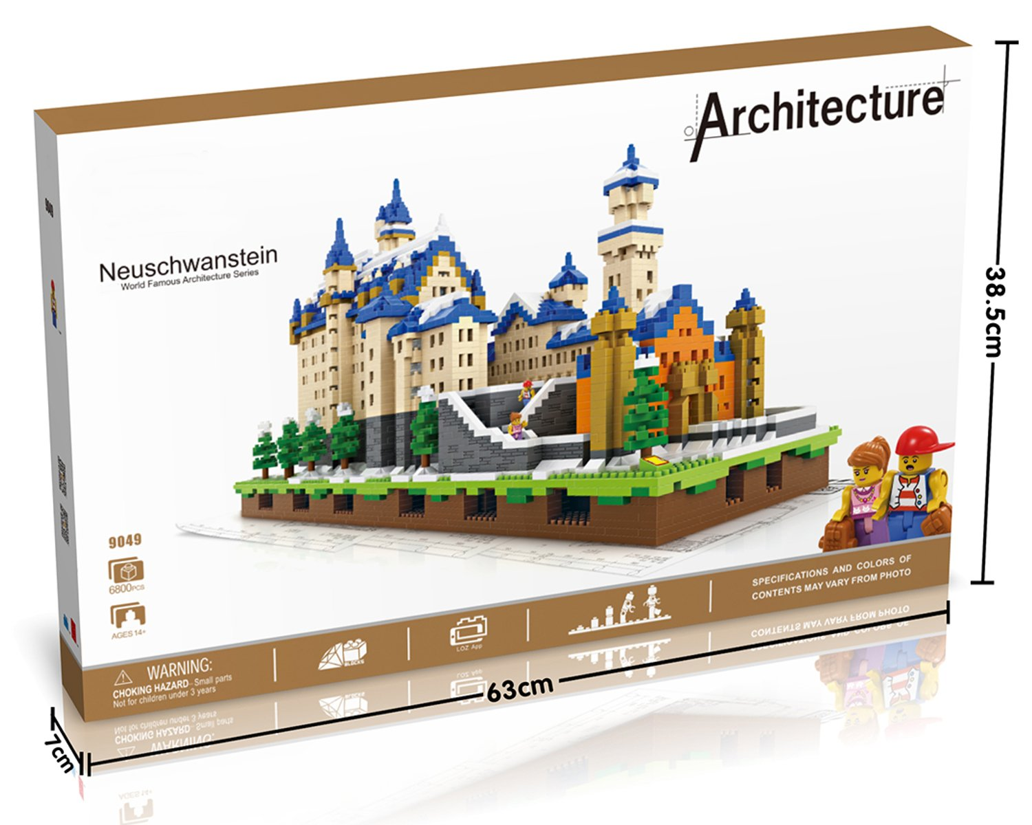 POCO DIVO Saint Basils Cathedral St Vasily The Blessed Russia Vasile Assumption Cathedral Pokrovsky Church Micro Block Building Set 1860 pcs