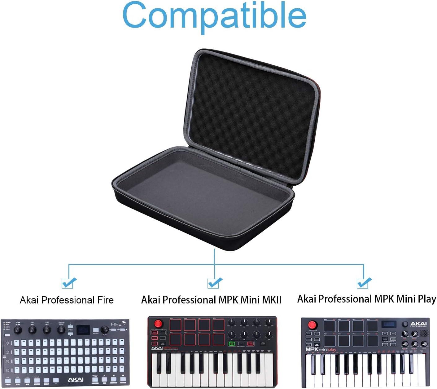 case only Khanka Hard Case for Akai Professional Fire Performance MIDI Keyboard Controller.