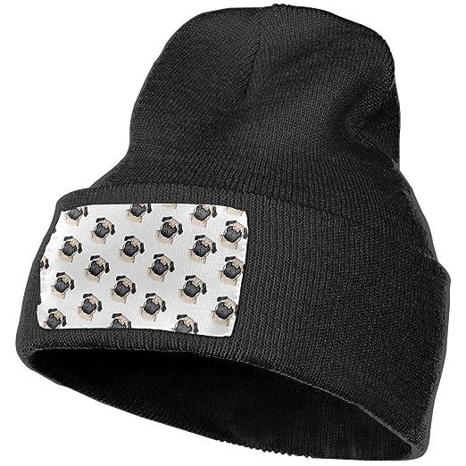 Amazon.com  OlaTd Winter Knit Beanie Hat Warm Soft Stretch Cable Pug ... 81b3586c04
