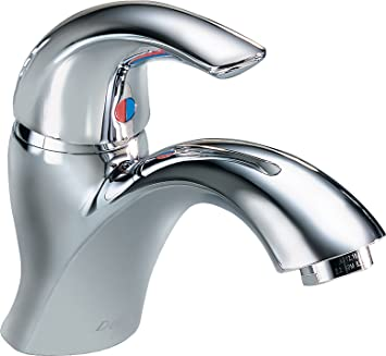 Delta Faucet 22C601 22T Single Handle Single Hole Bathroom Faucet With Less  Pop Up,