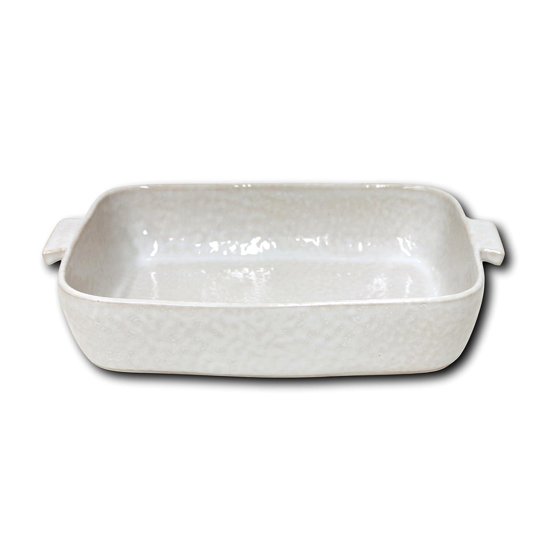 Carmel Ceramica 05-1501 Rectangular Baker, 14 x 10 x 3.25, White