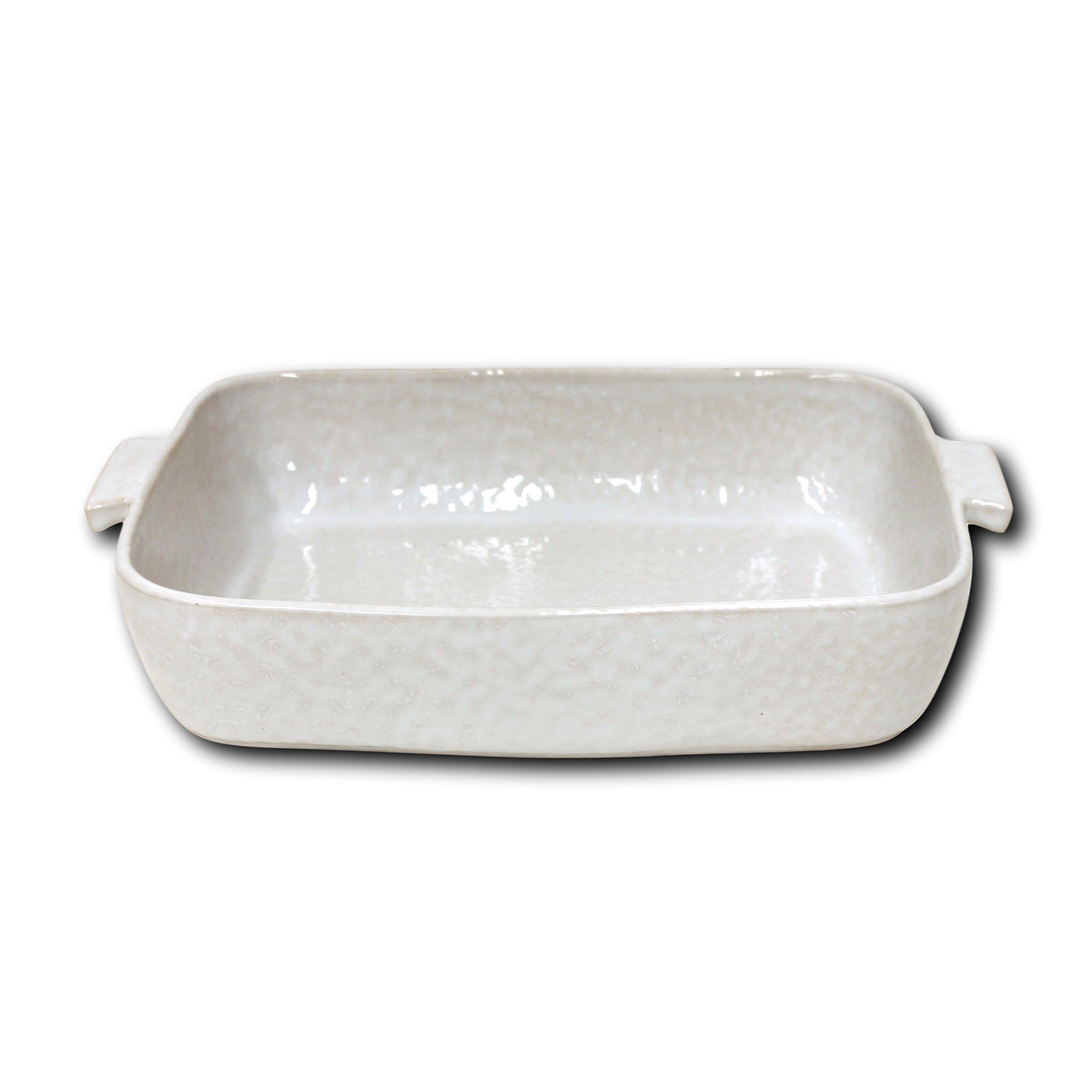 Carmel Ceramica 05-1501 Rectangular Baker, 14'' x 10'' x 3.25'', White