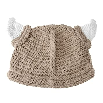 Amazon Child Viking Beanie Tan Beanie Hat With Horns For Baby