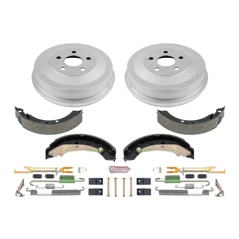 04-09 Chrysler PT Cruiser W//ABS 9 Inch REAR Brake Drums /& Brake Shoes Springs