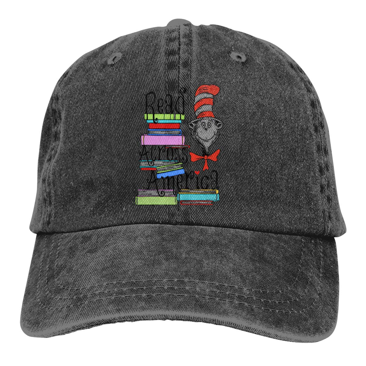 JERXANYD Read Across America Day Adjustable Baseball Hat for Mens Caps