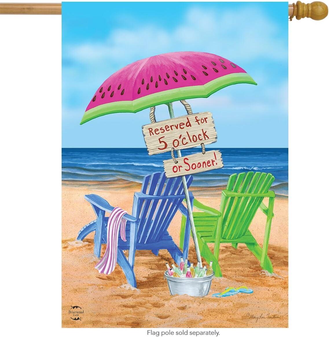 Riñonera de playa verano sillas de playa paraguas de bandera de casa 28