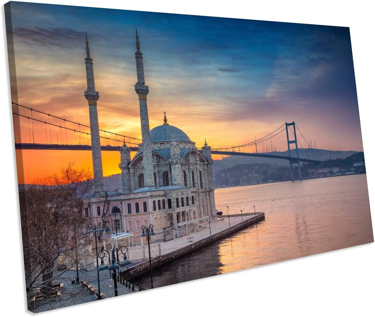 Amazon Com Daoyiqi Unframe Canvas Printing Wall Art Istanbul Bostphorus Bridge City Sunset Framed Picture Canvas Wall Art Print Wall Decoration For Living Room Bed Room Posters Prints
