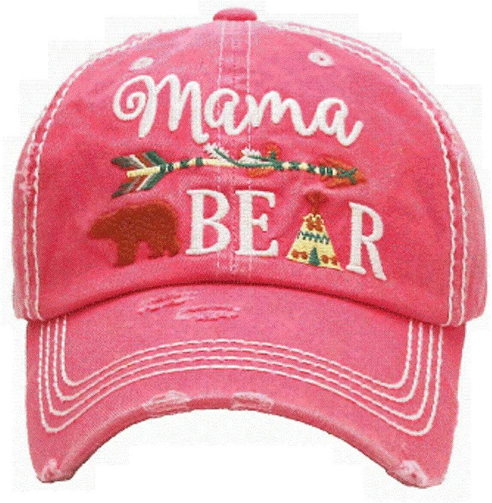 KB Adjustable Aztec Arrow Tepee Mama Bear Womens Vintage Hat Cap