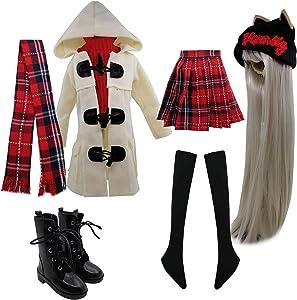 EVA BJD Set of Fashion Clothes Wigs Shoes Socks Accessories Full Set for 1/3 21-23inch 60cm BJD Dolls (Selena)