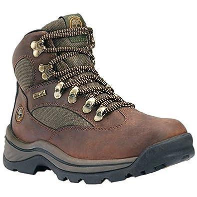 Timberland Women's Chocorua Trail Mid Waterproof Hiking Boots & Knit Cap Bundle