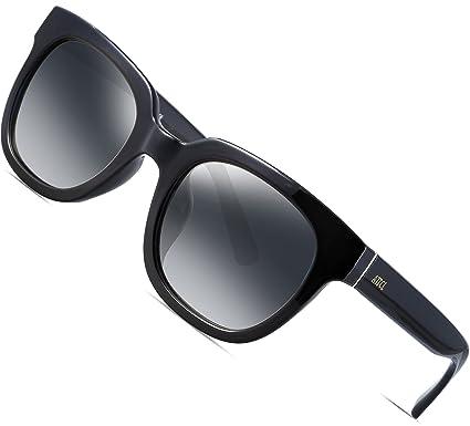 dc9cf57827 ATTCL Unisex Retro Rewind Classic Polarized Wayfarer Sunglasses Men or  Women 3002 Black