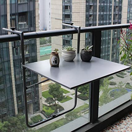 Amazon Com Ailjcz Ailj Balcony Hanging Table Railing Hanging Table
