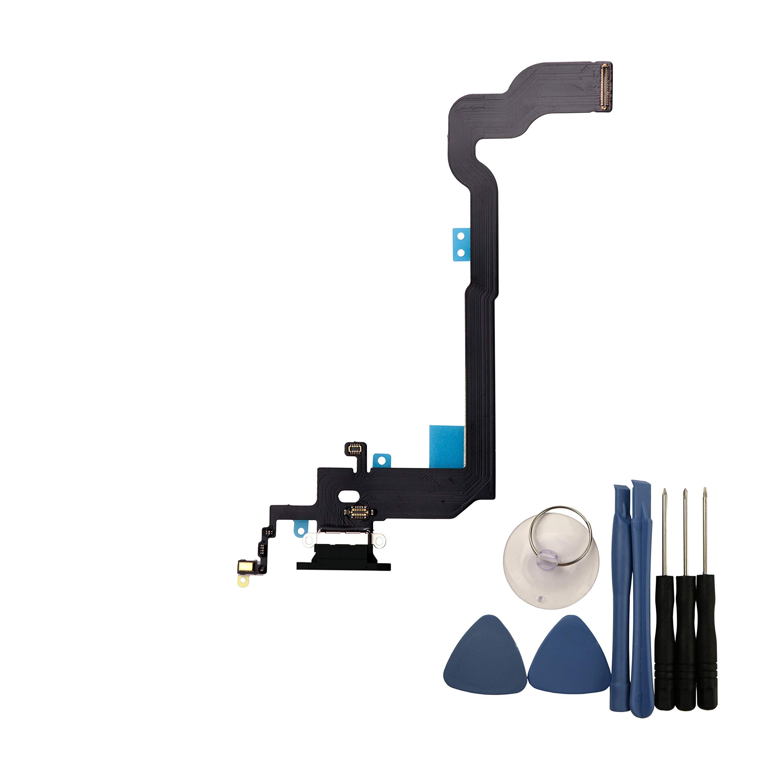 Cable Flex Puerto de Carga para IPhone X 5.8 Inches (Black)