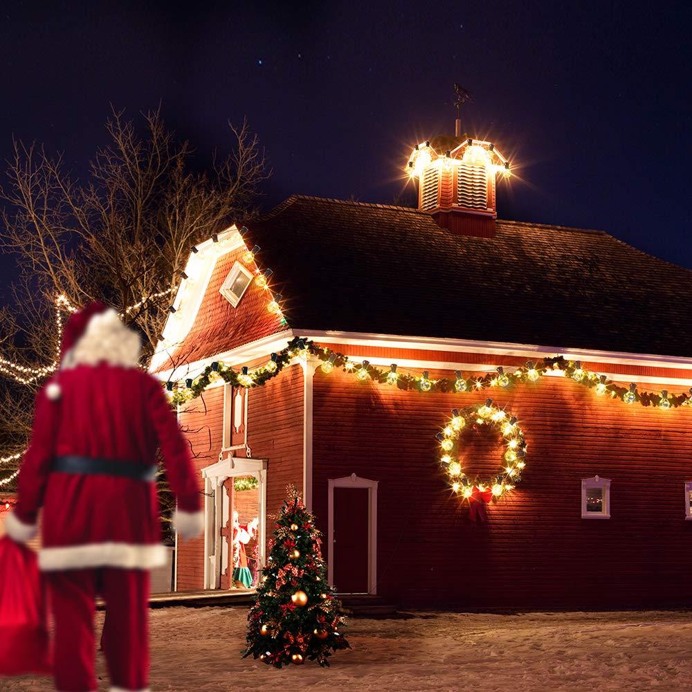 Stecker Für Weihnachtsbeleuchtung.Mycarbon Led Lichterkette Außen Mit Stecker Weihnachten Lichterkette