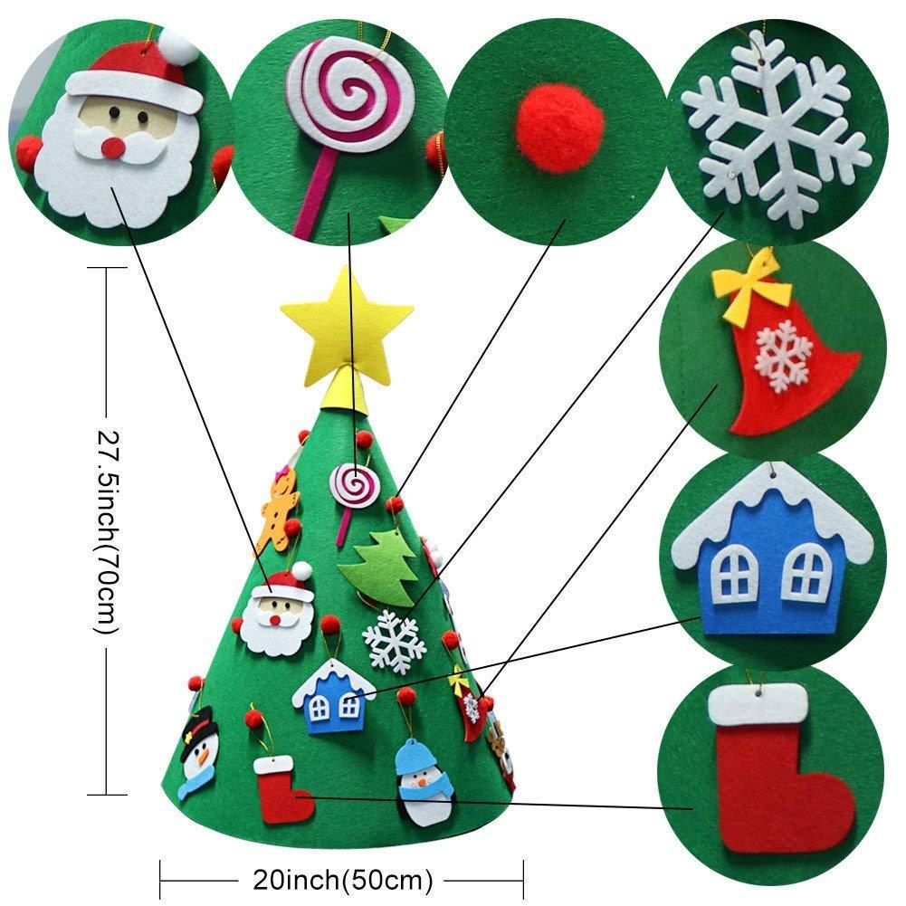 Cozywind 3D Arbol de Navidad de Fieltro, DIY Navidad Decoración Colgante Año Regalo para Niños: Amazon.es: Hogar