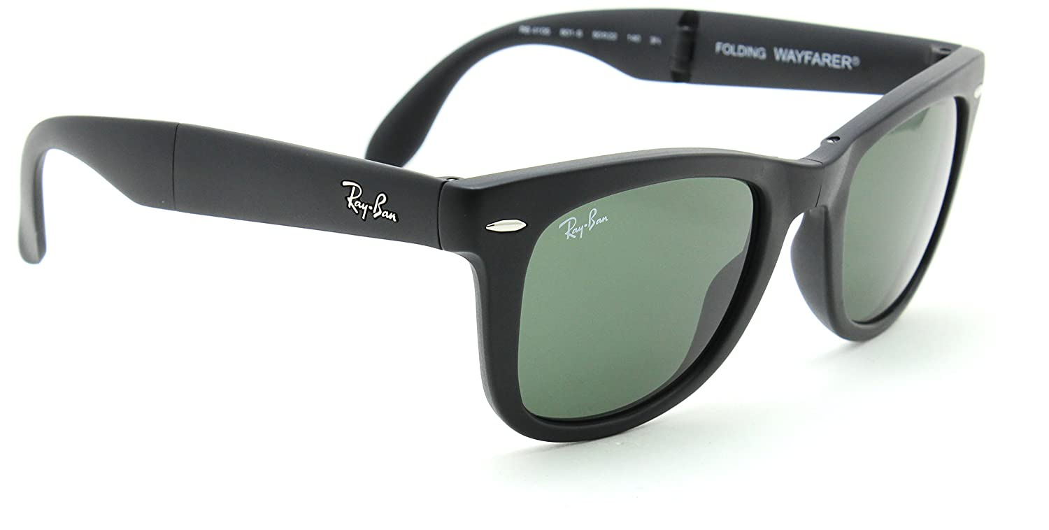 Amazon.com: Ray-Ban RB4105 601s Wayfarer plegable Classic ...