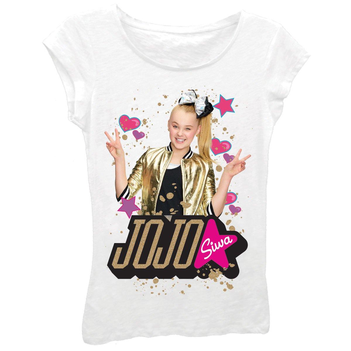 Nickelodeon JoJo Siwa Star Girls Shirt Sizes 7-16
