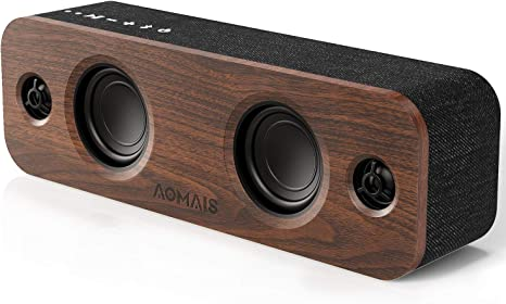 Amazon.com: AOMAIS Life Bluetooth Speaker, 30W Loud Home Party Wireless Bluetooth Speakers, 2 Woofers&2 Tweeters for Super Bass Stereo Sound,TWS and 100Ft Bluetooth V5.0,12-Hour Playtime Subwoofer, Imitation Wood: Electronics