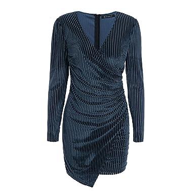 18e36556d6ca6 Autumn Winter 2019 Women Dress Vintage wrap Velvet Elegant Sexy ...