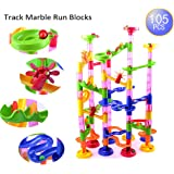 AutoLover Marble Run Set,Marble Run Coaster 105pcs Marble Race Game Marble Run Play Set For Kids Christmas Gift