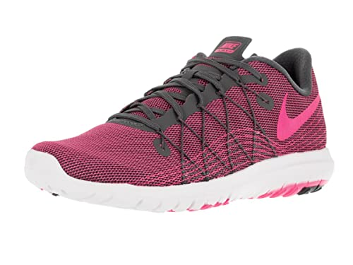 3bd1a9e42e913 Nike Womens Flex Fury 2 Dark Grey Pink Blast White Running Shoe 9. 5 Women  US  Amazon.in  Shoes   Handbags