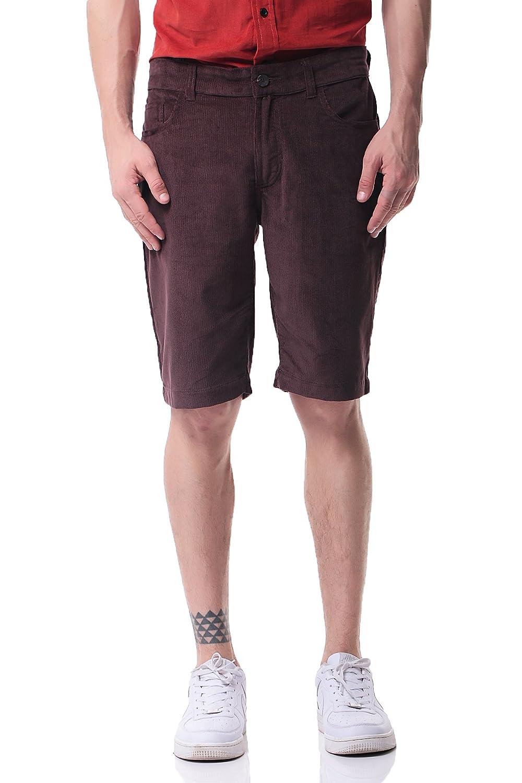 Pau1Hami1ton PH-19 Mens Corduroy Shorts Casual Slim Fit Flat Front NPH-19-1