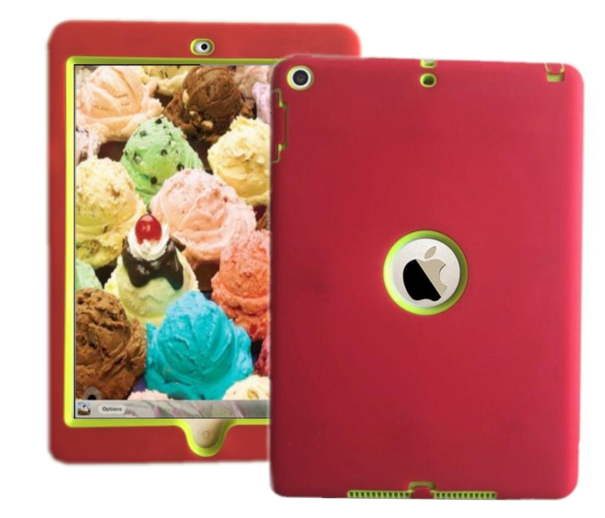 "2018 Ipad Case For iPad 9.7"" 2018/2017 Release Also Fit For iPad Air 1st 2013 Release Models A1893 A1954 A1822 A1823 A1747 A1475 MR6Y2LL/A MR7C2LL/AA MRM82LL/A MRJN2LL/A MRJP2LL/A Red/Green"