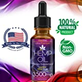 Pure Extract Hemp Seed Oil 3500MG, Full Spectrum, for Pain Relief, Relaxation, Sleep, Anxiety and Mood Support, Natural, Organic, Vegan