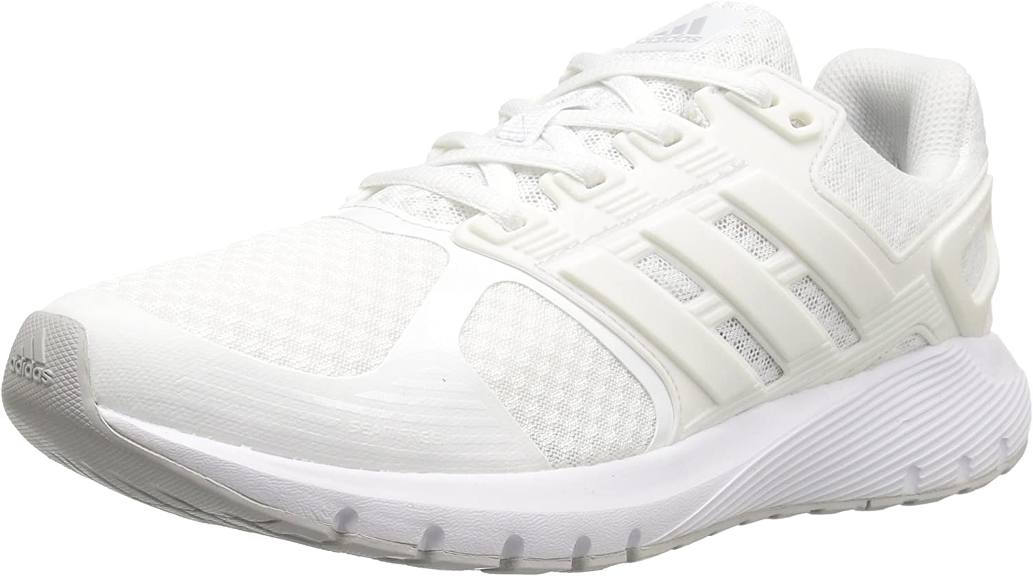 adidas Women s Duramo 8 W Running Shoe, White Crystal White Light Grey Heather, 8.5 M US
